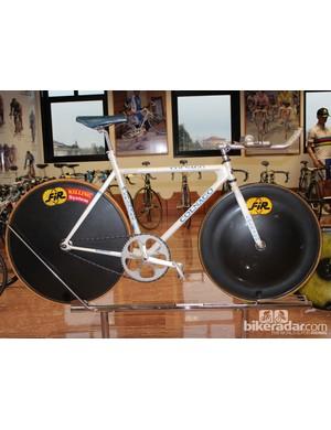 Tony Rominger's bike for his 1994 world hour record-setting ride