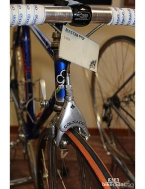 A Colnago-branded Delta brake caliper