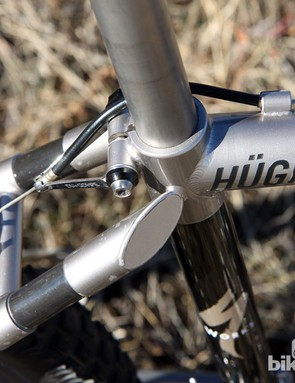 Check out the impossibly tiny contact area between the seatstays and seat tube