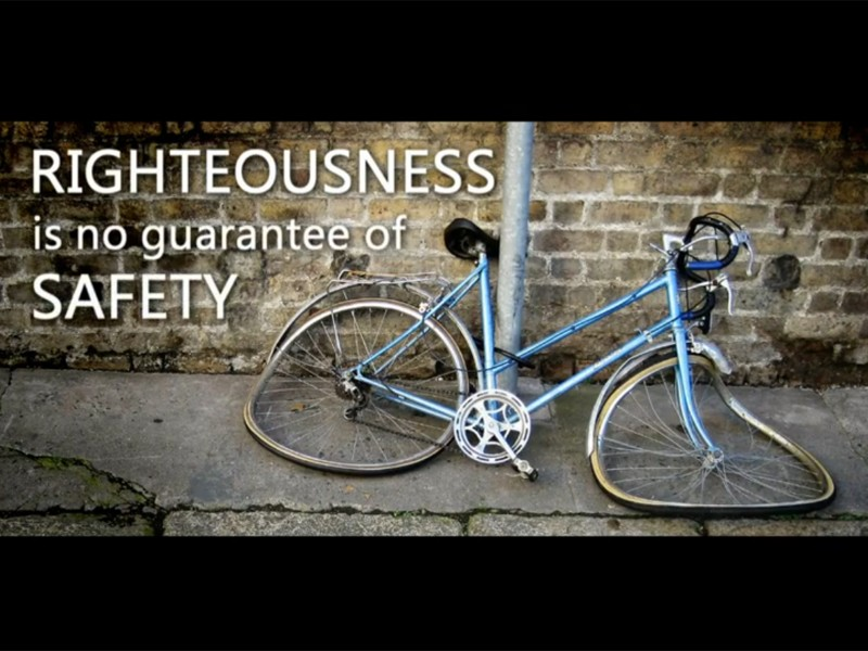 A screenshot from one of Top Gear's spoof cycle safety videos