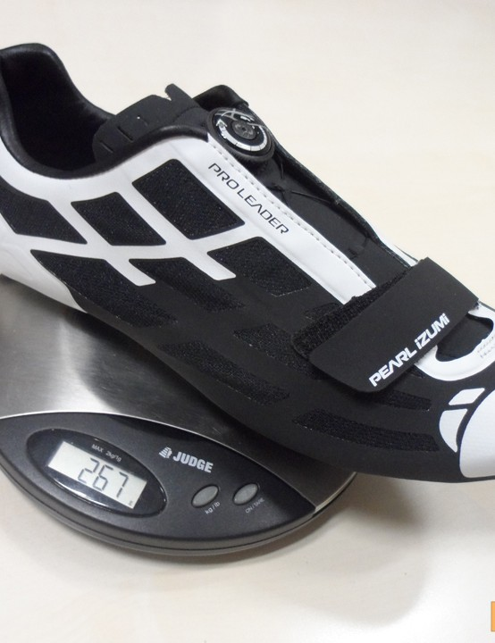 Pearl Izumi P.R.O Leader II shoes - our test pair tipped the scales at 265g (each) for a size 45