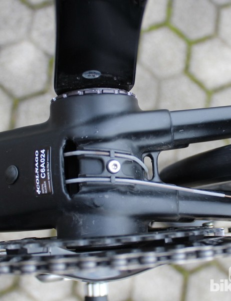 The new bottom bracket shell also offers easy access for down tube cable routing