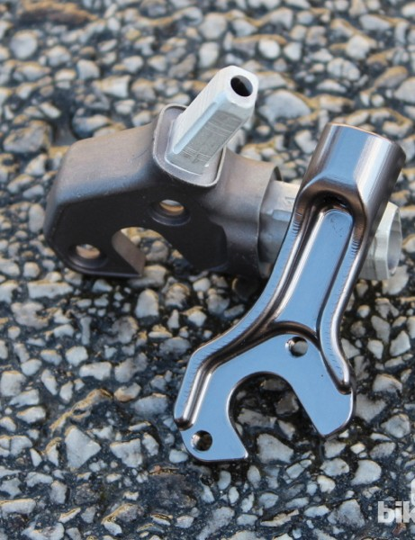 For the disc-brake frames, Colnago has a new two-piece left dropout, the inner piece of which houses a replacement post-mount bolt