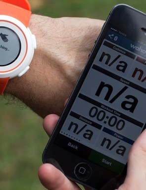 Once set up, syncing is easily done by firing up a fitness app and turning on the watch