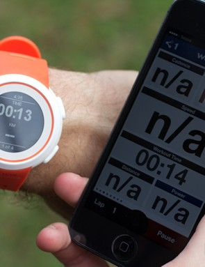 The watch displays the data that is available through fitness apps and has minor control, such as starting and stopping the timer