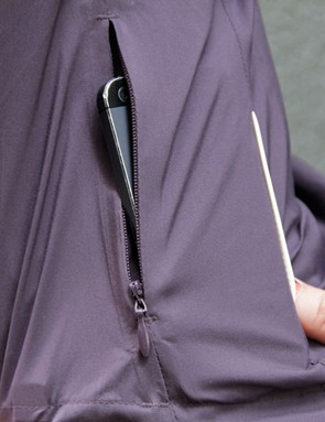A front zip pocket is perfeclty sized to house a mid-size smartphone