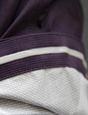 The back of the jacket features a gripper to help it stay in place