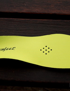 The Yellow insole is one of Superfeet's many cut-to-fit footbeds