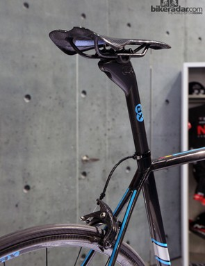 Virtually everything on the bike is carbon fiber - including the cable housing and brake caliper arms