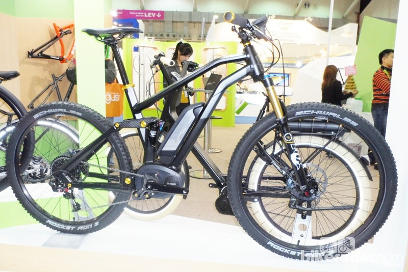 The Samedi FS e-bike is named the Moustache - nope, we've no idea why either