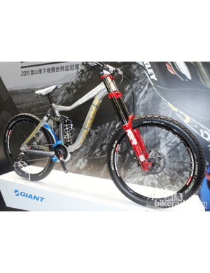 Mountain bikes are well represented too with Danny Hart's big travel Glory on show