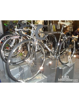 If satin black is too subtle for you, you can opt for a fully chromed frameset