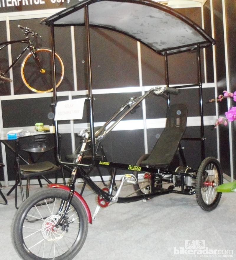 It's a recumbent, it's an ebike, and it's a portable solar farm too
