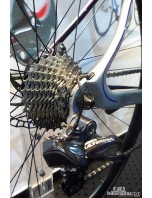 The Axman road disc bike has a standard rear end