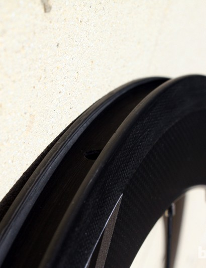The 50mm clincher rims are also available in a tubular option