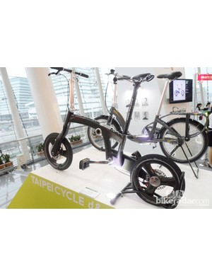 AMECO Carbontech debuted its new compact folding bike