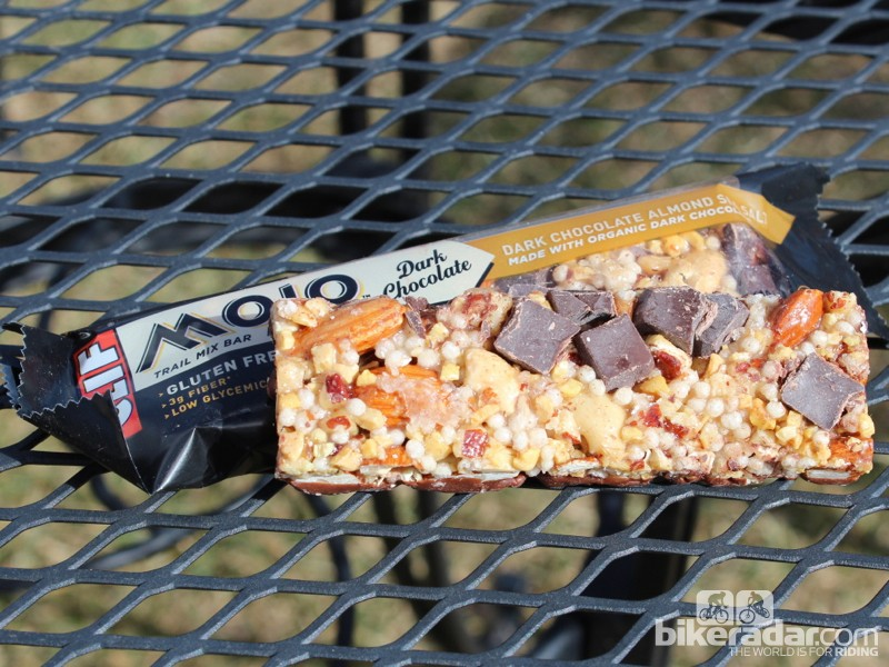 Clif Bar's Mojo line now includes five gluten-free options in Fruit & Nut and Dark Chocolate varieties