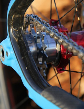 Our One 9 RDO test bike came equipped with Niner's Cogalicious titanium cog