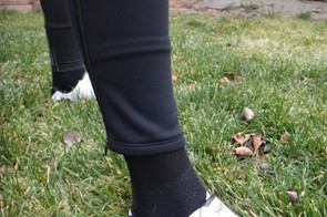 Our Pearl leg warmers were a little baggy at the ankles