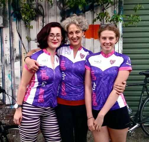 Sydney-based columnist and author Elizabeth Farrelly will be participating in the ride with her daughters as the official Gear up Girl Ambassador