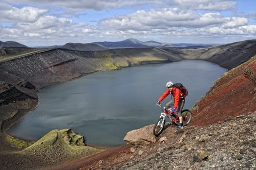 The Dane will cycle around Iceland around scenery such as this – and you can join him