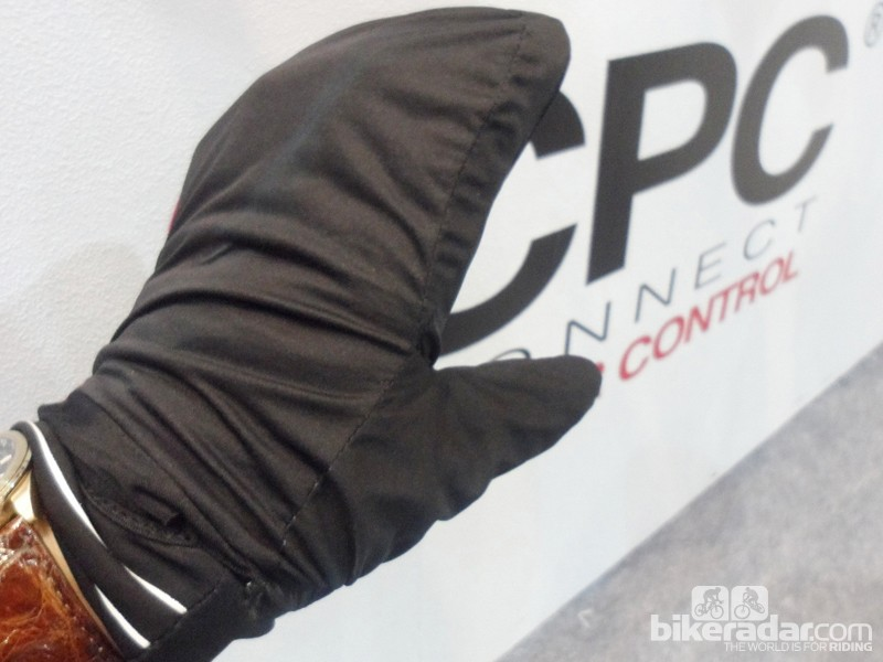 ...the mid-season glove has a neat fold-out rain cover