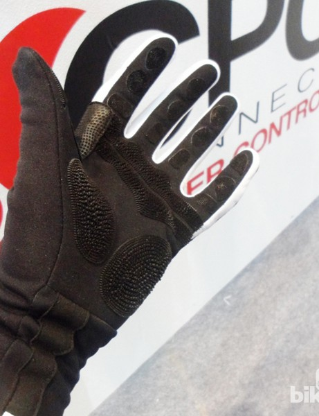 The prototype winter glove is made from lightweight neoprene and features a long cuff and CPC gripped palms