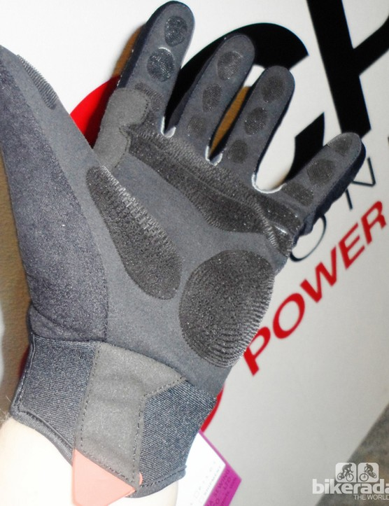 The prototype Enduro glove shows a reinforced thumb adjustable cuff and CPC grip throughout the palm