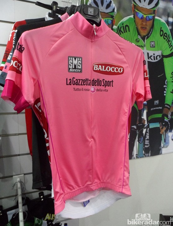 And, of course, Santini has the pink jersey too