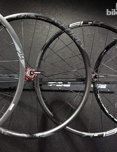 The new FSA K-Force Light MTB and SL-K MTB carbon clinchers will both be offered in 27.5in and 29in varieties