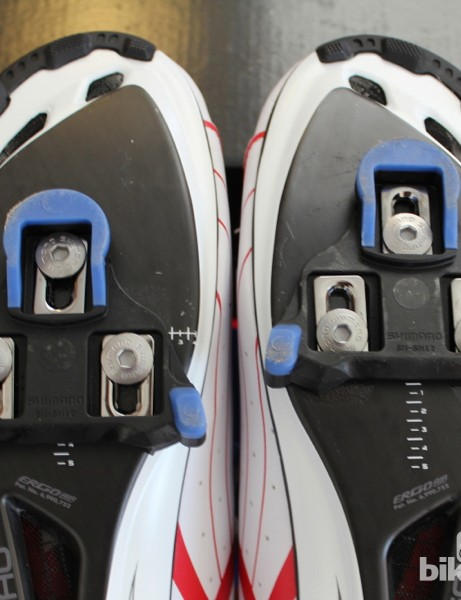 In addition to the cleats' fore/aft adjust, the shoes add about 7mm of adjustment