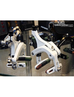 These Far Near dual-pivot brake calipers are popular with the handbuilt crowd for their longer reach