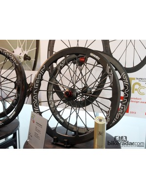 Taiwanese wheel maker Gigantex had some of the most radical looking wheels at the show