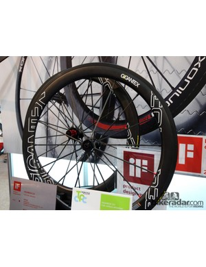 The Gigantex booth was teeming with creative ways of building carbon wheels