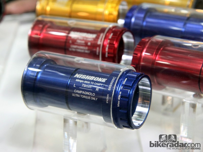 Want to reduce the chance of creaking on your BBright frame and Campagnolo Ultra-Torque crankset? Wishbone's thread-together design might do the trick