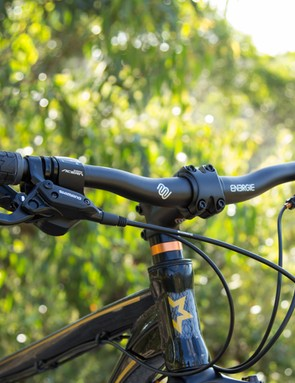 The position on the Switch 27.7 is similar to that of a 'trail bike' - it's a bit more upright and has you ready to tackle technical terrain