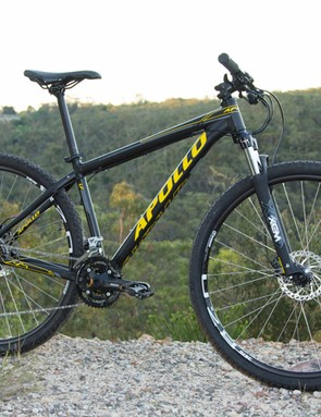 The Apollo Xpert 29S - its shorter suspension fork and skinny tyres make it best suited to multi-surface use