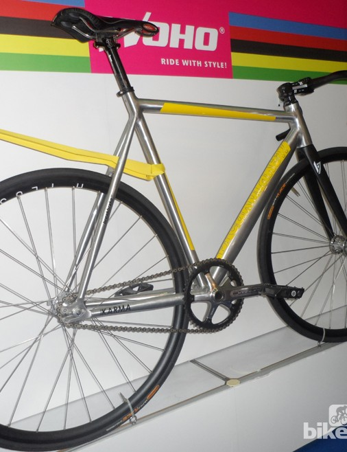 Woho also had this track-derived fixie on show. We're not sure calling it the BreakBrake was the best idea