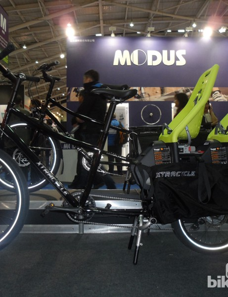 The long wheelbase XtraCYCLE can be adapted for plenty of load carrying applications, from this two-child seater...