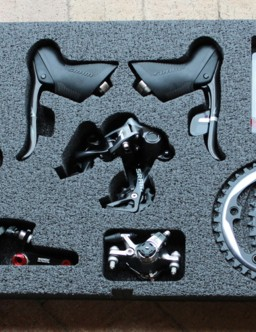 A complete group can be pieced together with existing brake calipers (canti or mechanical disc), PC-1170 cassette, PC-1170 chain and the new levers, derailleur, crank and chainrings