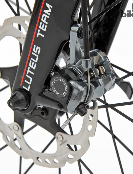 Shimano's BR-CX77 mechanical disc brake setup requires five different tools for installation and service