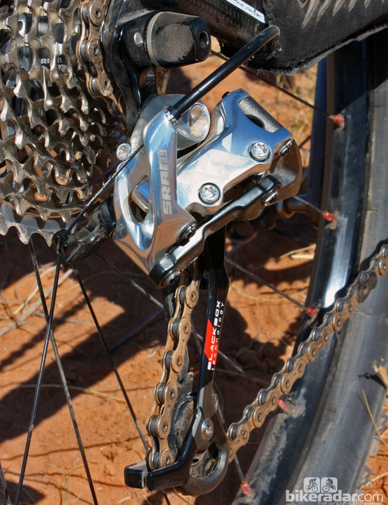SRAM made a valiant effort on the XX group to use T25 Torx hardware for just about everything