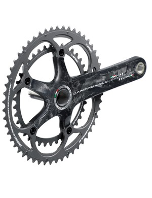 The new Campagnolo Super Record RS crank uses Ultra-Torque split spindle