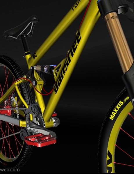 A screenshot from the 3D bike configurator from Elementals Studio