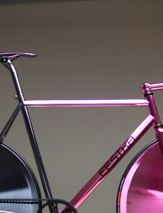 Festka's track bike: as polished as an olympic gold medal