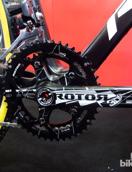 Rotor's 3DF crank makes good use of the X-Night's BB30 bottom bracket shell
