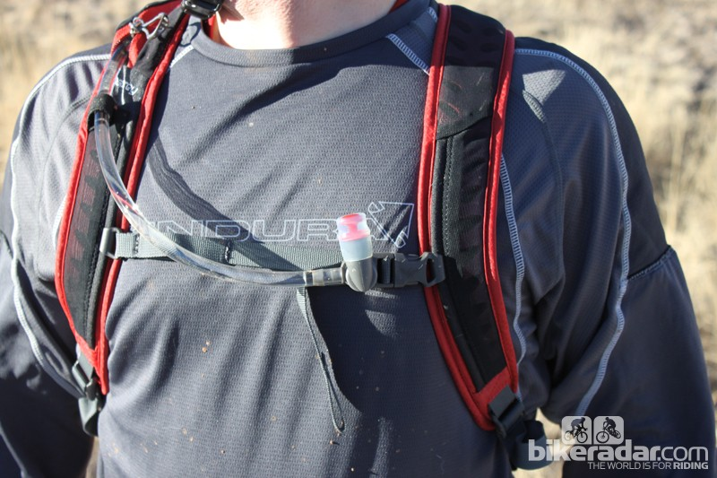 Of all the details Osprey includes in its packs, perhaps the most useful is the magnetic hose holder that's mounted to the sternum strap