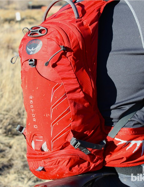 The Osprey Raptor 10 is a comfortable pack large enough for all-day trail rides