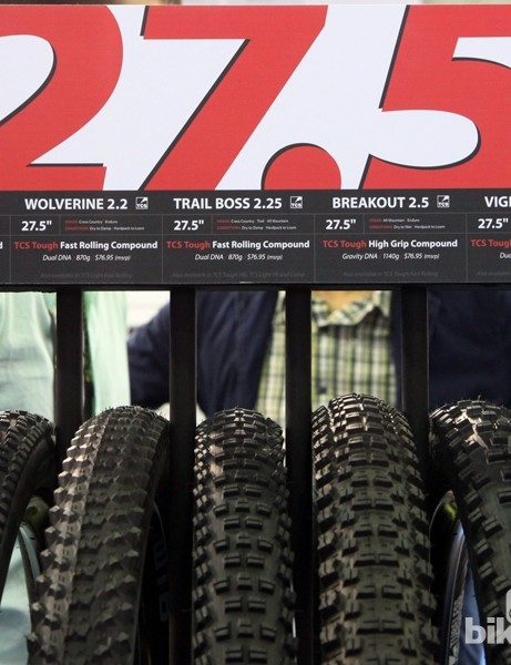WTB is certainly making a commitment to 27.5in tyres