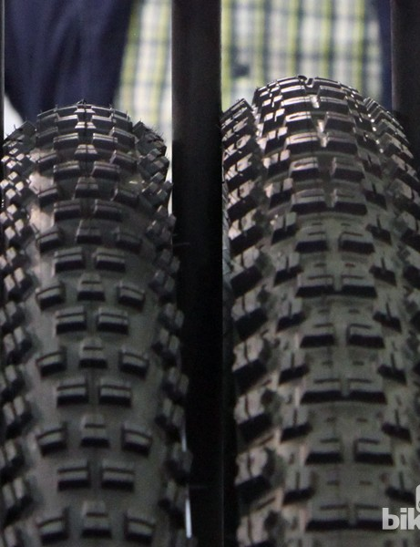 Both the Trail Boss (left) and Breakout (right) from WTB look to be good options for hardpack and loose-over-hardpack conditions